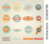 set of vector colored emblems... | Shutterstock .eps vector #223838788
