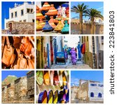 colorful collage and... | Shutterstock . vector #223841803