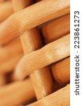 wicker texture  macro  | Shutterstock . vector #223861273