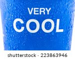 feel cool on the paper cup | Shutterstock . vector #223863946