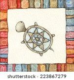 turtle water | Shutterstock . vector #223867279