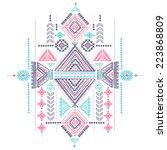 tribal vintage ethnic... | Shutterstock .eps vector #223868809