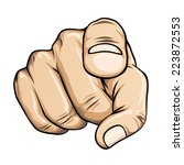 vector pointing finger or hand... | Shutterstock .eps vector #223872553
