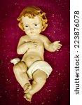 new born baby jesus christ...   Shutterstock . vector #223876078
