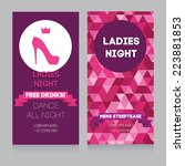 template for ladies night party ... | Shutterstock .eps vector #223881853