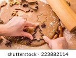 baking christmas gingerbread. ... | Shutterstock . vector #223882114