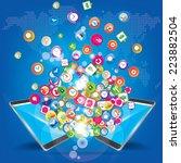 social network marketing... | Shutterstock .eps vector #223882504