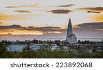 long shot of hallgrimskirkja...