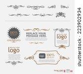 vector set  calligraphic design ...   Shutterstock .eps vector #223902934