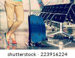 legs of young woman close up... | Shutterstock . vector #223916224