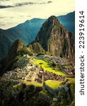 Machu Picchu At Sunset When Th...