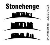 Silhouette Of Stonehenge Vector ...