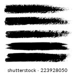 black ink vector brush strokes | Shutterstock .eps vector #223928050