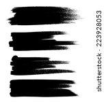 black ink vector brush strokes | Shutterstock .eps vector #223928053