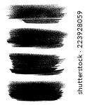 black ink vector brush strokes | Shutterstock .eps vector #223928059