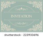 retro invitation or wedding... | Shutterstock .eps vector #223933696