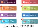 web buttons   Shutterstock .eps vector #223945000