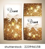 gold shiny gift card | Shutterstock .eps vector #223946158