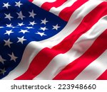 image of old glory american flag | Shutterstock . vector #223948660