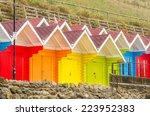 Colourful Beach Huts In Autumn