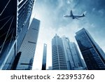 shanghai's skyscrapers and... | Shutterstock . vector #223953760