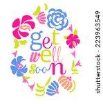 get well soon   Shutterstock .eps vector #223963549