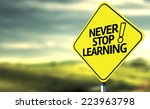 never stop learning creative... | Shutterstock . vector #223963798