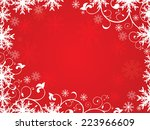 abstract artistic red christmas ...   Shutterstock .eps vector #223966609