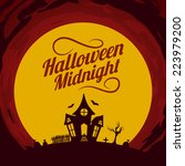halloween background. bright... | Shutterstock .eps vector #223979200
