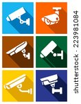 video surveillance  cctv camera ... | Shutterstock .eps vector #223981084