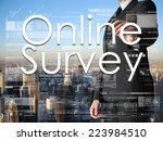 businessman writing online... | Shutterstock . vector #223984510