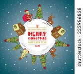 merry christmas design greeting ... | Shutterstock .eps vector #223986838