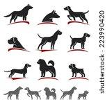 dogs set. vector | Shutterstock .eps vector #223990420