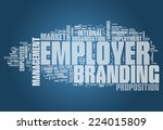 word cloud with employer... | Shutterstock . vector #224015809