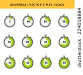 set of simple timers. vector...