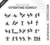 Fighting Icons Set.