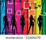 glamour girls | Shutterstock . vector #22404370