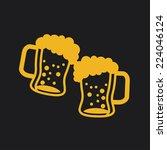beer graphic design   vector...   Shutterstock .eps vector #224046124