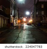 an empty steet in the evening... | Shutterstock . vector #224047783