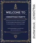 great vintage invitation sign...   Shutterstock .eps vector #224047966
