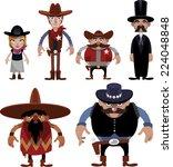 wild west people cartoon... | Shutterstock .eps vector #224048848