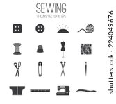 illustration set icon of sewing ... | Shutterstock .eps vector #224049676