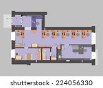 plan a small office with... | Shutterstock . vector #224056330