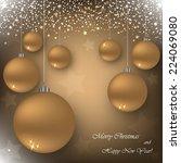 beautiful beige background with ... | Shutterstock .eps vector #224069080