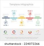 business timeline infographics... | Shutterstock .eps vector #224072266