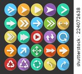 arrow flat icons vector