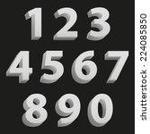 light clean modern set of 3d... | Shutterstock .eps vector #224085850