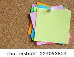Colorful Sticky Notes On Cork...