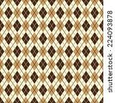 brown diamond pattern   endless | Shutterstock .eps vector #224093878