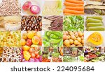 vintage looking food collage... | Shutterstock . vector #224095684